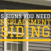 signs that your home may need replacement siding